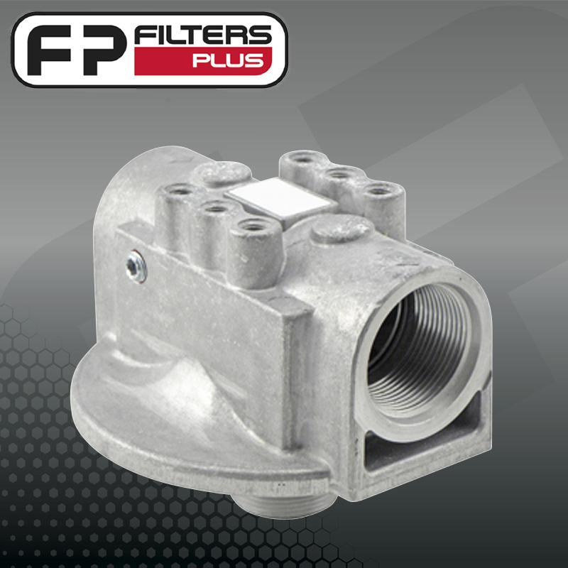filter head, hydraulic head, fuel head, oil head